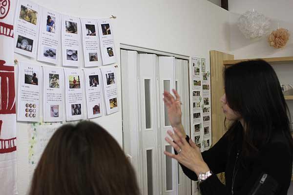壁には各窯元さんの紹介が♪上野さんに特徴を伺いながら器を選ぶのも楽しいです!