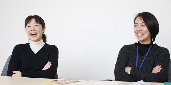 福津市地域振興部地域振興課の安部真理さん(写真左)と、西田明日香さん(写真右)