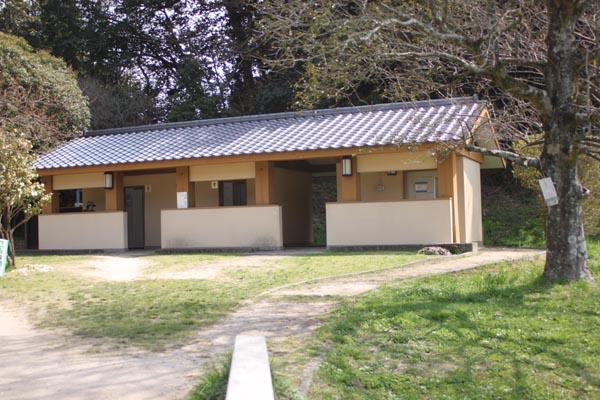 太宰府政庁跡で桜の花見