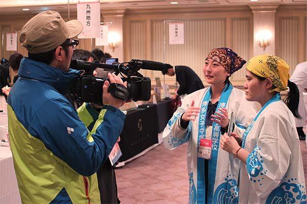 博多女子高校と糸島産ふともずくの活動記録東京メディア取材
