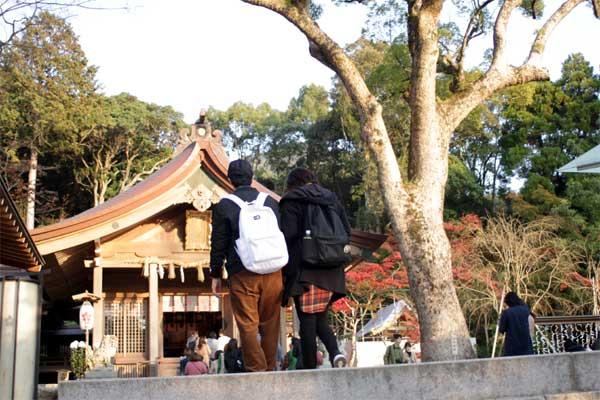 竃門神社の本殿がようやく見えてきました