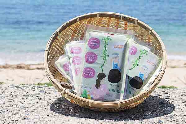 料理に素材として使える「糸島産ふともずく」。