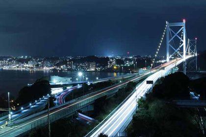 めかり公園からの関門海峡夜景