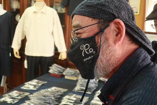 久留米絣のロォーリングのおすすめ侍マスク
